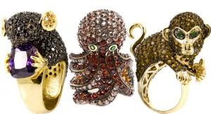 ювелирные украшения в виде животных