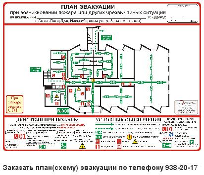 Планы эвакуации при пожаре.