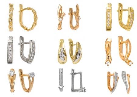 Золотые серьги с бриллиантами в интернет-магазине ShopJewelGold.ru