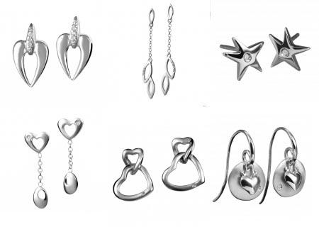 Серьги из серебра с бриллиантами в интернет-магазине ShopJewelGold.ru