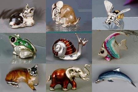 Серебренные статуэтки с ювелирной эмалью в интерент-магазине Shop.JewelGold.ru