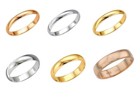 Гладкие обручальные кольца в в интерент-магазине Shop.JewelGold.ru