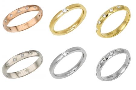 Обручальные кольца с бриллиантами в в интернет-магазине Shop.JewelGold.ru