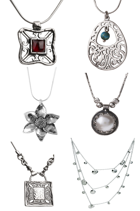 Колье из серебра с камнями на Shop.JewelGold.ru