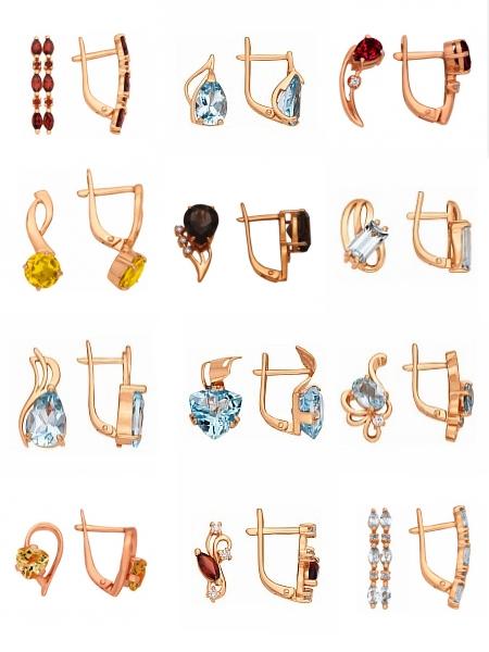 """Серьги """"Швенза"""" на сайте Shop.Jewelgold.ru"""