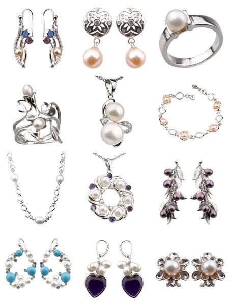Коллекция серебра с жемчугом De'luna на Shop.Jewelgold.ru