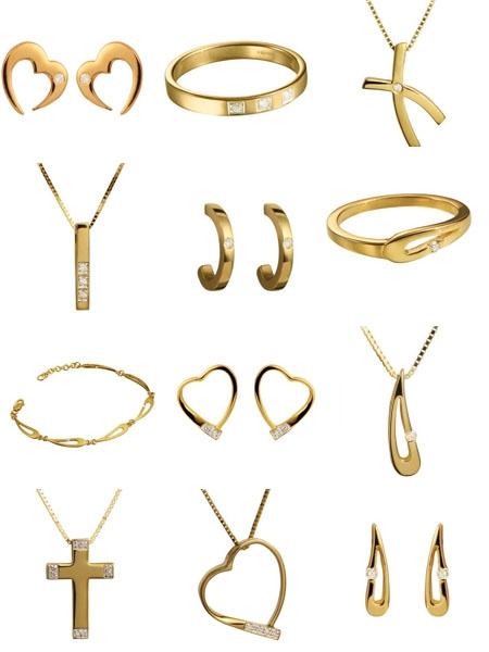 Коллекция золотых украшений Glow