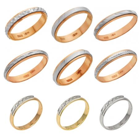 Обручальные кольца , комбинированное золото на Shop.JewelGold.ru