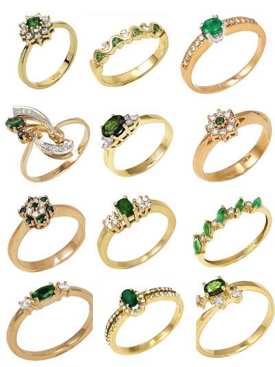 Кольца с изумрудами в каталоге Shop.JewelGold.ru
