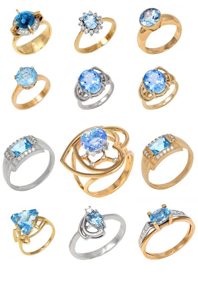 Кольца с топазами на Shop.JewelGold.ru