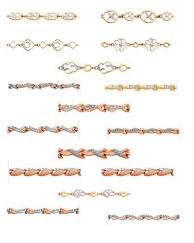 Золотые браслеты на Shop.JewelGold.ru