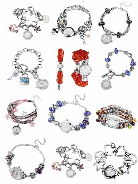 Браслеты с часами на Shop.JewelGold.ru
