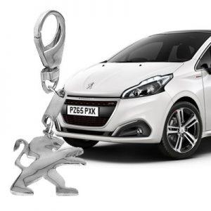 Брелок для автомобиля из серебра Peugeot