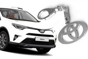 Брелок для автомобиля из серебра Toyota