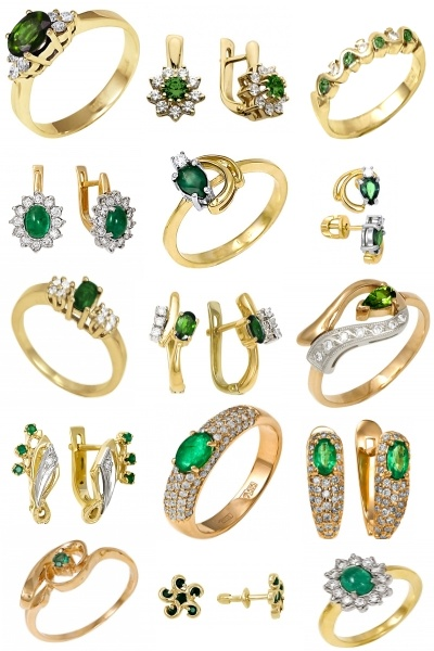 Изумрудная коллекция на Shop.JewelGold.ru