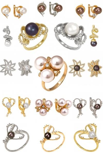 Жемчуг с бриллиантами на Shop.JewelGold.ru