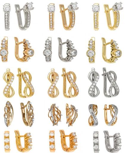 Серьги с бриллиантами на Shop.JewelGold.ru