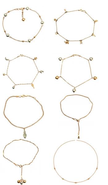 Золотые браслеты на ногу Shop.JewelGold.ru