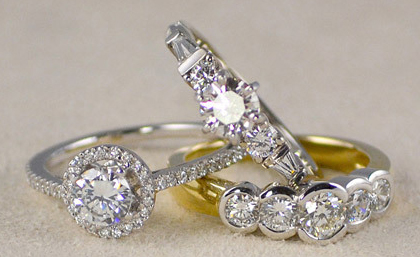 Кольца с бриллиантами