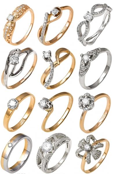 Кольца с бриллиантами на Shop.JewelGold.ru