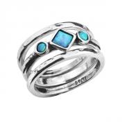 Кольцо Shablool R609OP. Опал, Серебро 925, Израиль