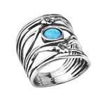 Кольцо Shablool R858OP. Опал, Серебро 925, Израиль
