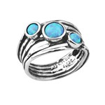 Кольцо Shablool R865OP. Опал, Серебро 925, Израиль
