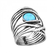 Кольцо Shablool R896OP. Опал, Серебро 925. Израиль