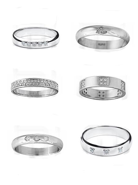 Кольцо из платины с бриллиантом.