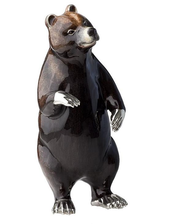 Статуэтка Медведь из серебра на www.giftbutik.ru