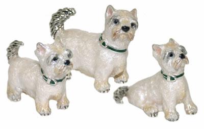 Статуэтки Собаки из серебра
