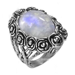 Кольцо Deno с лунным камнем