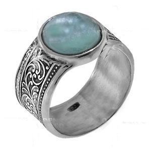 Кольцо с римским стеклом