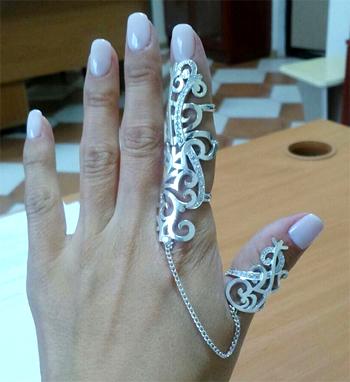 Серебряное кольцо Узор Утум
