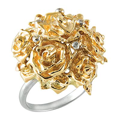 Золотое кольцо с бриллиантами ШАРМ