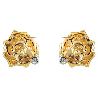 Серьги-пусеты из золота Шарм
