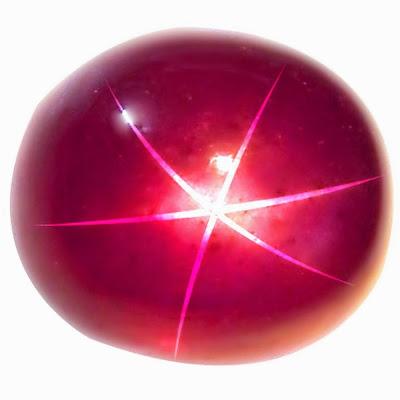 Шести лучевой астеризм в рубине