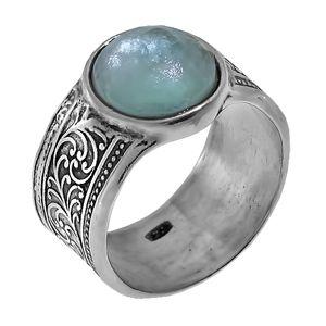 Кольцо Deno из серебра с римским стеклом