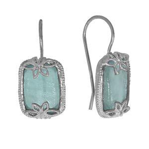 Серьги Deno из серебра с римским стеклом