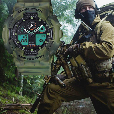 Часы Casio G-Shock GA-100MM-3A на timer-watch.ru