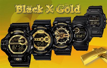 Часы G-shock Black & Gold