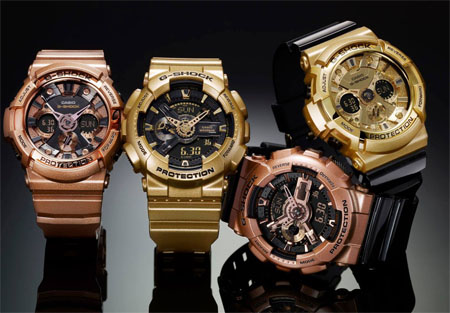 Часы G-Shock Black & Gold и Rose Gold