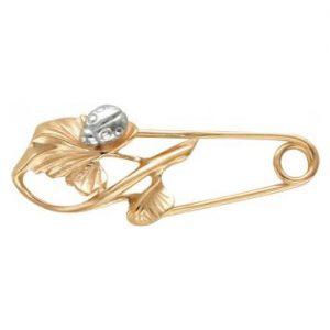 Брошь — булавка из золота на Shop.JewelGold.ru