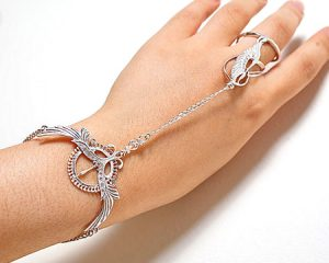 Якутский серебряный слейв-браслет
