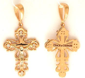 Крестик православный на Shop.JewelGold.ru