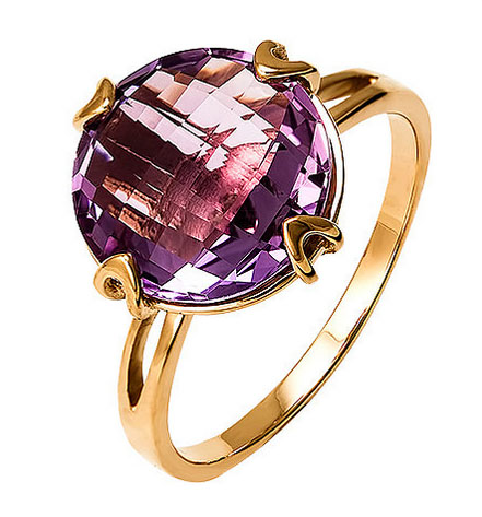 Кольцо с аметистом на Shop.JewelGold.ru