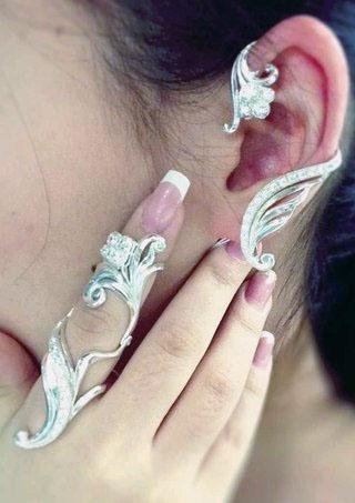 Кольцо-фулфингер из серебра
