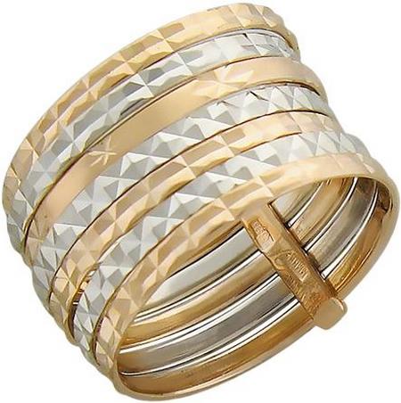 Кольцо неделька из золота с алмазной огранкой