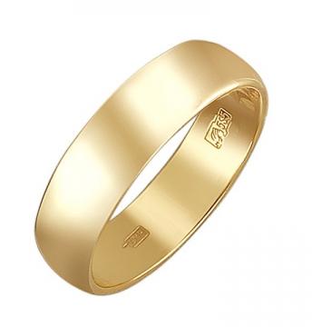Обручальное кольцо из желтого золота в интернет-магазине Shop.JewelGold.ru