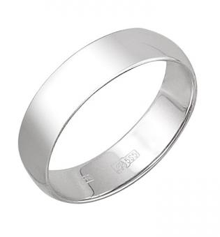 Обручальное кольцо из белого золота в интернет-магазине Shop.JewelGold.ru